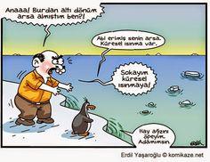 Karikaturiks   Gülümse biraz.!: Küresel Isınma :) #karikatür #komik