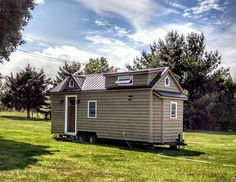 Modern farmhouse tiny house - measures just 204 sq ft!