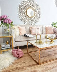 Ideas For Apartment Chic Living Room Mirror Pastel Living Room, Glam Living Room, Living Room Mirrors, Mirror Room, Pastel Room, Apartment Chic, Apartment Living, Living Room Decor Traditional, Deco Design