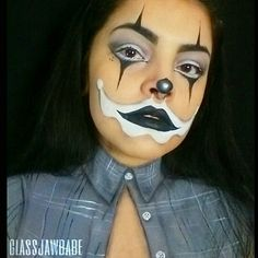 Body painted flannel shirt. Chola makeup for Halloween. Follow me on instagram @glassjawbabe