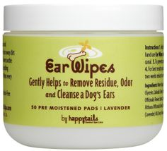 For Tails Only - happytails Ear Wipes, $14.99 (http://www.fortailsonly.com/happytails-ear-wipes/)