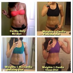 GO READ THIS! She describes what was going on with her regime for the pics and how EATING CLEAN is truly important. Also, you need weights! They won't make you look like a man for crying out loud. Cardio bunny + poor dieting = doesn't have tone and not healthy. Weights + cardio + clean eating = lean, toned, healthy figure.