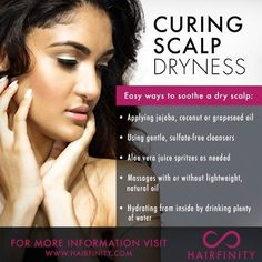 Listen up ladies! Here are some super effective tips on how to cure scalp dryness... #Hairfinity