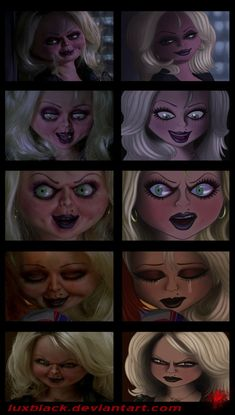 Don Mancini's Bride of Chucky! Chucky Movies, Chucky Horror Movie, Horror Movies Funny, Horror Movie Characters, Scary Movies, Arte Horror, Horror Art, Slasher Movies, Halloween Horror