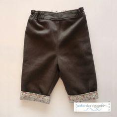 Patron couture Bébé - Pantalon doublé, à revers   Patron couture Bébé   Atelier des Cigognes