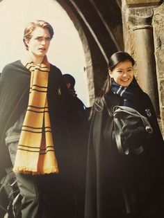 ||Cho and Cedric|| this couple was pretty cute until voldemort came along. Then again, you could say that for almost any couple who either both died or one person died in the series.
