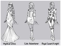 Outfit Design : Batch 6 (1/3 OPEN) by JessyB-Design.deviantart.com on @DeviantArt
