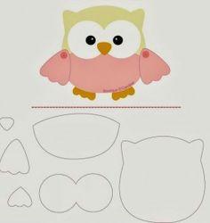 Friendly Felt: Template Owl Boutique D 'Caroline Felt Owls, Felt Animals, Owl Patterns, Applique Patterns, Owl Applique, Boutique D Caroline, Motifs D'appliques, Sewing Crafts, Sewing Projects
