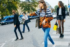 Streetstyle Paris - Pull léopard marinière