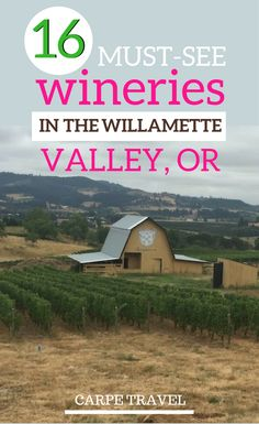 16 fabulous Willamette Valley, Oregon, wineries that you cannot miss. Check out why these wineries should be on your Oregon itinerary. Oregon Road Trip, Oregon Travel, Travel Usa, Road Trips, Oregon Vacation, Dundee Oregon, Portland Oregon, Oregon Wine Country, Willamette Valley