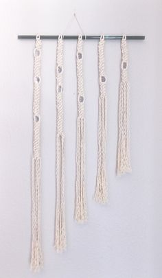 Modern macrame wall haninging, :Rain Drops: HIMO ART fo Urban Outfitters