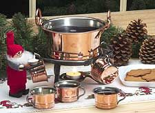 Copper Glögg Serving Set - With Copper Cups  Hemslojd.com. $130 for whole set!! Including copper cups-REALLY LOVE!!