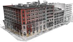 #Autodesk's laser scan and #Revit model of Autodesk's 210 King office in Toronto.