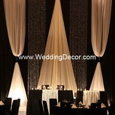 Wedding Backdrop - Black & Ivory by WeddingDecor