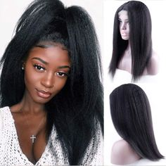 Odir Brazilian 4x4 Lace Front Human Hair Wigs 12 inch Kinky Straight 150% Density 8A Yaki Human Hair Weave Bundles Wig 100% Unprocessed Vigin Hair Lace Closure Wig For Black Women Natural Color Two Braids Hairstyle Black Women, Two Braid Hairstyles, Braids For Black Hair, Lace Closure, Wet And Wavy Hair, Best Wigs, Deep Curly, Wigs For Black Women, Virgin Hair
