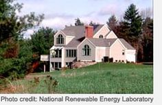 Photo of house with solar passive solar
