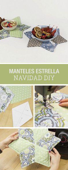 Tutorial DIY: Cómo hacer manteles de Navidad de patchwork con forma de estrella -Costura en DaWanda.es