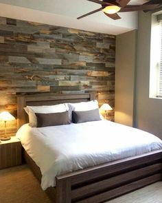Rustic Bedroom, Reclaimed Wood Wall