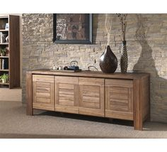 Sideboard Decor, Buffet Console, Dining Room Buffet, Solid Oak Furniture, Teak Furniture, Classic Furniture, Living Room Designs, Living Room Decor, Buffet Teck