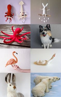 The Best Needle Felting Shops in Etsy by Le Muf on Etsy--Pinned with TreasuryPin.com