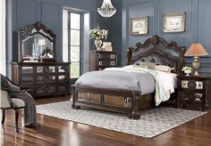 Shop for a Glass Castle 5 Pc King Bedroom at Rooms To Go. Find Bedroom Sets that will look great in your home and complement the rest of your furniture.