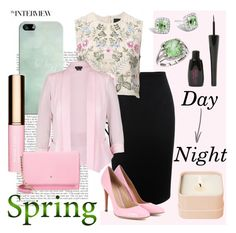 """Spring - Day to Night"" by pixidreams ❤ liked on Polyvore featuring Casetify, Alexander McQueen, Needle & Thread, City Chic, Gianvito Rossi, John Hardy, BillyTheTree, Clarins, Kate Spade and Henri Bendel"