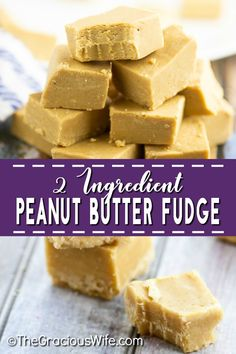 Creamy, smooth 2 Ingredient Peanut Butter Fudge that you can make in the microwave in about 5 minutes with just 2 ingredients! It seriously makes the best fudge. You wouldn& even believe it was so easy! So little work, so much delicious! Easy Cookie Recipes, Fudge Recipes, Candy Recipes, Yummy Recipes, Recipies, Vegan Recipes, Köstliche Desserts, Delicious Desserts, Dessert Recipes