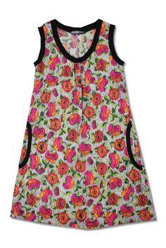 Neon Roses Anita Dress   Thriveclothing