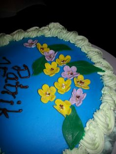 Fondant flowers with bling, bling