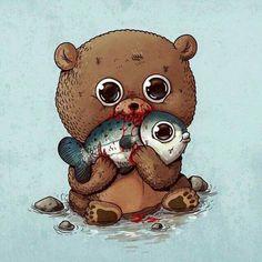 Adorable predators & prey by Oddworx #illustration