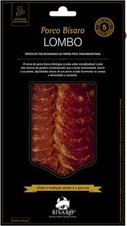 Lombo de porco bísaro criado em campo, 5 meses de cura, fatiado 100 gr