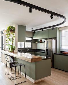 Kitchen Room Design, Kitchen Dinning, Kitchen Cabinet Design, Modern Kitchen Design, Home Decor Kitchen, Interior Design Kitchen, Espace Design, Estilo Interior, Sweet Home