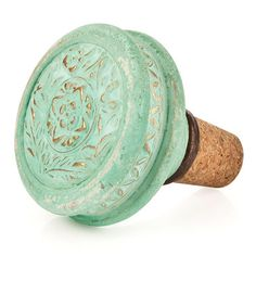 I WANT!!  Take a look at this Vintage Doorknob Bottle Stopper by True Fabrications on #zulily today!