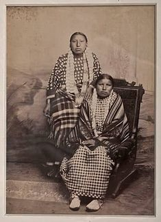 Wears War Bonnet (aka Julia Red Cloud, aka Julia Red Cloud-Long Soldier) and her sister, Louise Red Cloud (aka Louise Red Cloud-Richard), the daughters of Red Cloud and Mary Good Road-Red Cloud - Oglala - circa 1880 Native American Women, American Indians, Walk In The Spirit, Red Cloud, War Bonnet, Great Warriors, Sioux, Photo Archive, First Nations