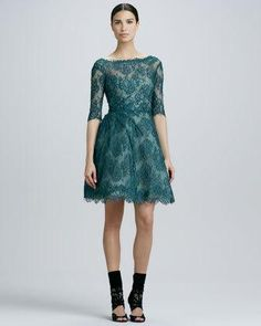 Women's Monique Lhuillier Lace Ruched...