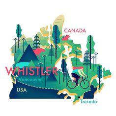 Illustrator: Owen Davey #canada #map