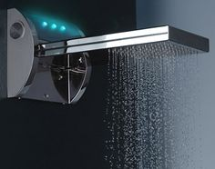 An MP3 playing shower head. Or should I say waterfall? From Bossini.