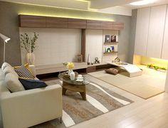 和室コーディネート|リビングからオープンな和室はママの目が届くので安心。
