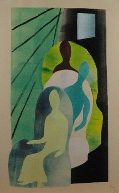 Hendrik Nicolaas Werkman (Leens 1882-1945 Bakkeveen) Bioscoop - Kunsthandel Simonis en Buunk, Ede (Nederland).