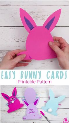 easter crafts for kids \ easter crafts ; easter crafts for kids ; easter crafts for toddlers ; easter crafts for adults ; easter crafts for kids christian ; easter crafts for kids toddlers ; easter crafts to sell Easter Crafts For Toddlers, Bunny Crafts, Crafts For Kids To Make, Easter Crafts For Kids, Toddler Crafts, Preschool Crafts, Diy Easter Cards, Easter Decor, Rabbit Crafts