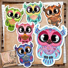 U printables by RebeccaB: FREE Printable - Owls Patterned