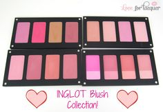 LOVE FOR LACQUER: Inglot Blush & Fusion Blush Collection - Swatches & Review
