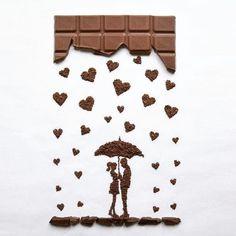 Nom nom nom! Chocolate creation by @ioanavanc #Designspiration #artsy - View this on https://www.instagram.com/Designspiration/