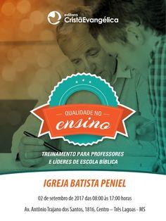 Treinamento para Professores de Escola Bíblica em Três Lagoas - MS, dia 02 de Setembro de 2017