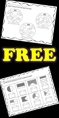 5 FREE READY TO USE printables are ready to be a part of your math center, morning work, or bell ringer. These will be perfect for your students to use to practice what they know about fractions.