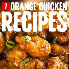 7 Homemade Orange Chicken Recipes- with no MSG or refined sugar.