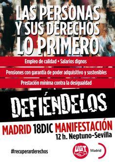 Los sindicatos llaman a la manifestación del 18 para recuperar derechos