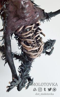 Sculpture of Sulyvahn's Beast Weird Creatures, Fantasy Creatures, Dark Souls, Wizard Of Oz, Horror Art, Creature Design, Fantastic Beasts, Creative Inspiration, Art Dolls