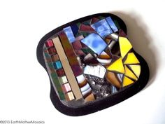 Stained Glass Mosaic // Abstract // Modern by earthmothermosaics, $40.00