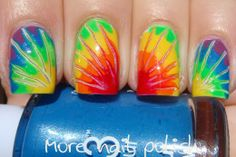 More Nail Polish: 31 Day Challenge - Day 30 - Inspired by a Tutorial - Rainbow drag marble